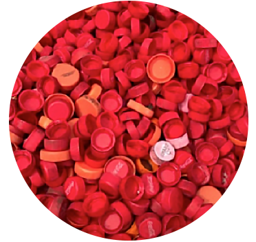 HDPE Red Caps